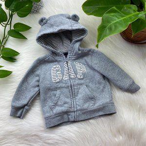 Baby Gap Hoodie Jacket Zip Up Striped Sweater